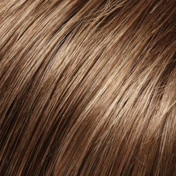 8RH14 | Hot Cocoa | Med Brown with 33% Light Natural Ash Blonde Highlights Jon Renau Easihair topper
