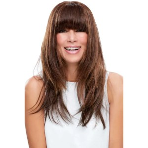 EasiFringe | Remy Human Hair Clip In Bangs (Mono Base) | 25 Colours