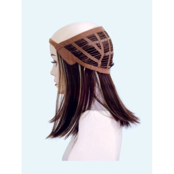 Halo Hair Piece by Rene of Paris   3/4 Wig   Synthetic Hair