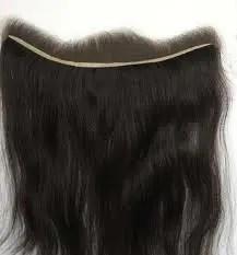 Lace Frontal Hair Piece | Straight Human Hair | Natural Black 1B