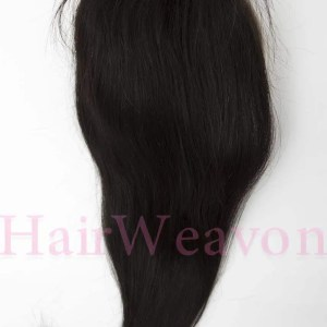 Lace Closure Hair Piece | Straight Human Hair | Natural Black 1B