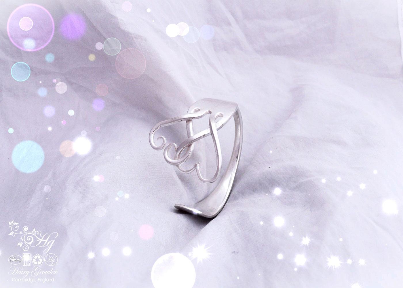 upcycled silver fork bracelet bangle