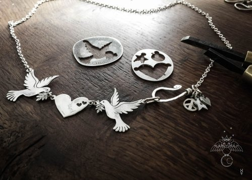 Love dove jewellery - handmade, ethical, Recycled 100 year old silver coins