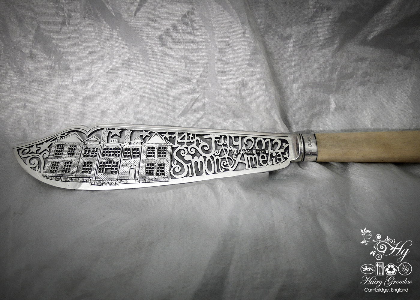 bespoke handcrafted and upcycled wedding-cake-knife