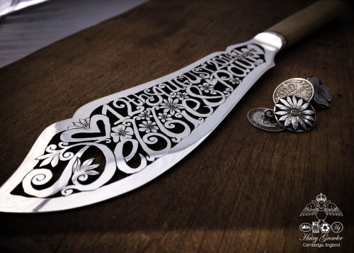 Wedding cake knife - An ethical and precious Victorian solid silver bespoke wedding cake knife.
