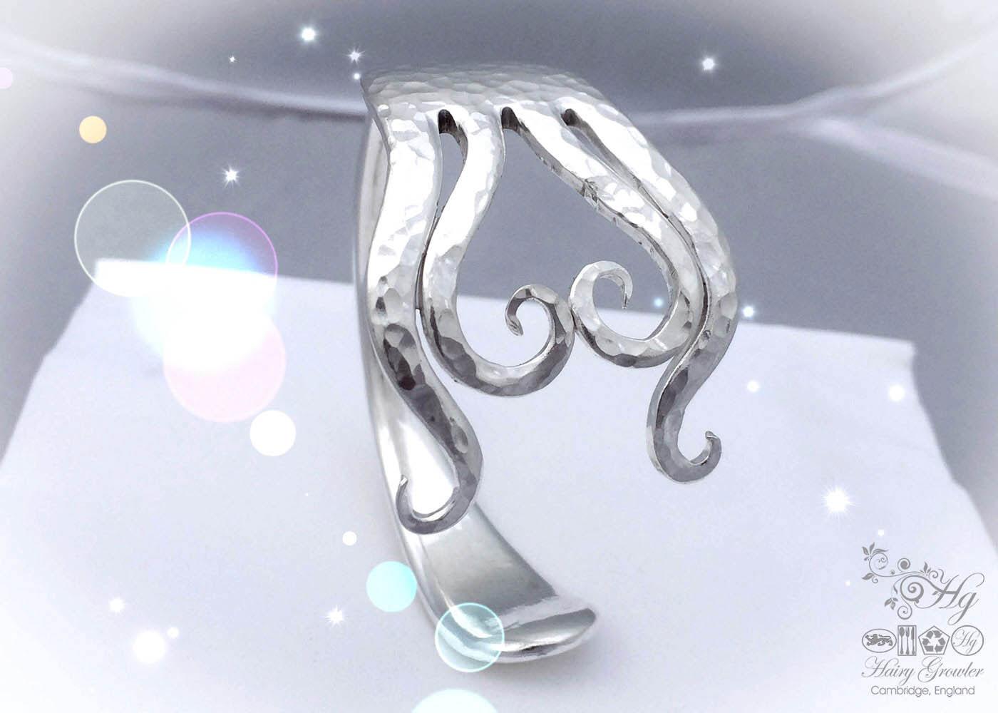 Handmade and repurposed true love heart bangle