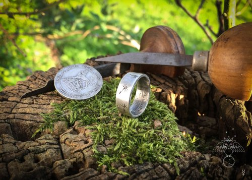 Eco-conscious, eco-friendly, recycled dandelion clock rings. Totally handcrafted and recycled. Made in Cambridge, England, UK by Hairy Growler Jewellery Co.