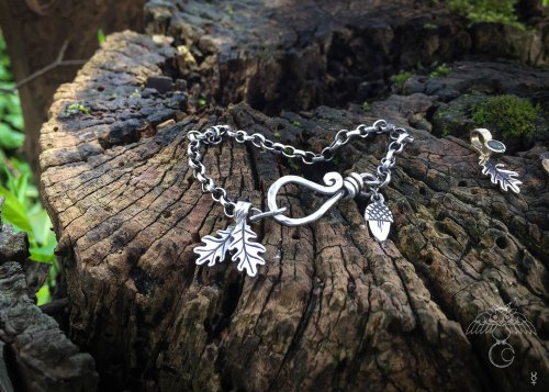 Tree of life bracelet Silver charm bracelet handcrafted and recycled for the tree of life sculpture collection