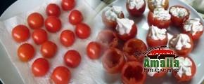 Umplere rosii cu pasta sau crema de branza