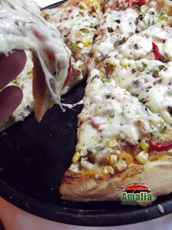 Pizza cu pui 6
