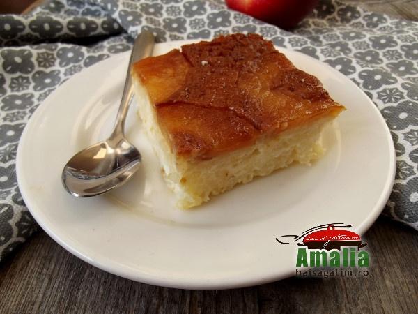 Budinca de orez cu mere caramelizate 2