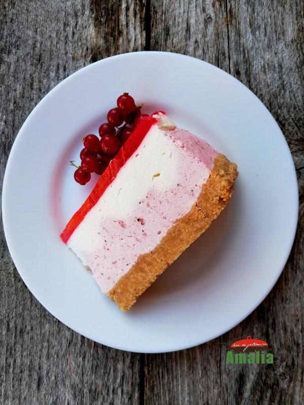Cheesecake cu fructe fără coacere