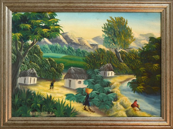 Country Life River Haitian Paintings Product Cat