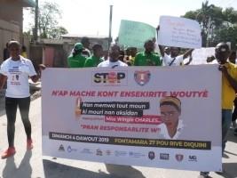 iciHaïti - Sécurité : Marche contre les accidents de la route