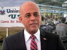 Haïti - Reconstruction : Michel Martelly aujourd'hui dans le Nord-Est