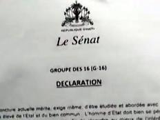 Haïti - Politique : Texte intégral de la déclaration du G16