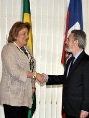 Haïti - Social : Dernière journée de travail de Sophia Martelly à Brasilia