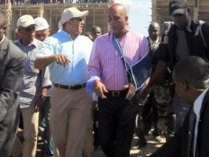 Haïti - Reconstruction : Martelly visite le chantier de l'Université «Roi Henri Christophe»