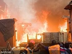 Haïti - FLASH : Incendie au Marché de la Croix-des-Bouquets