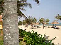This is a section of Cua Dai beach in front of the stylish Victora resort