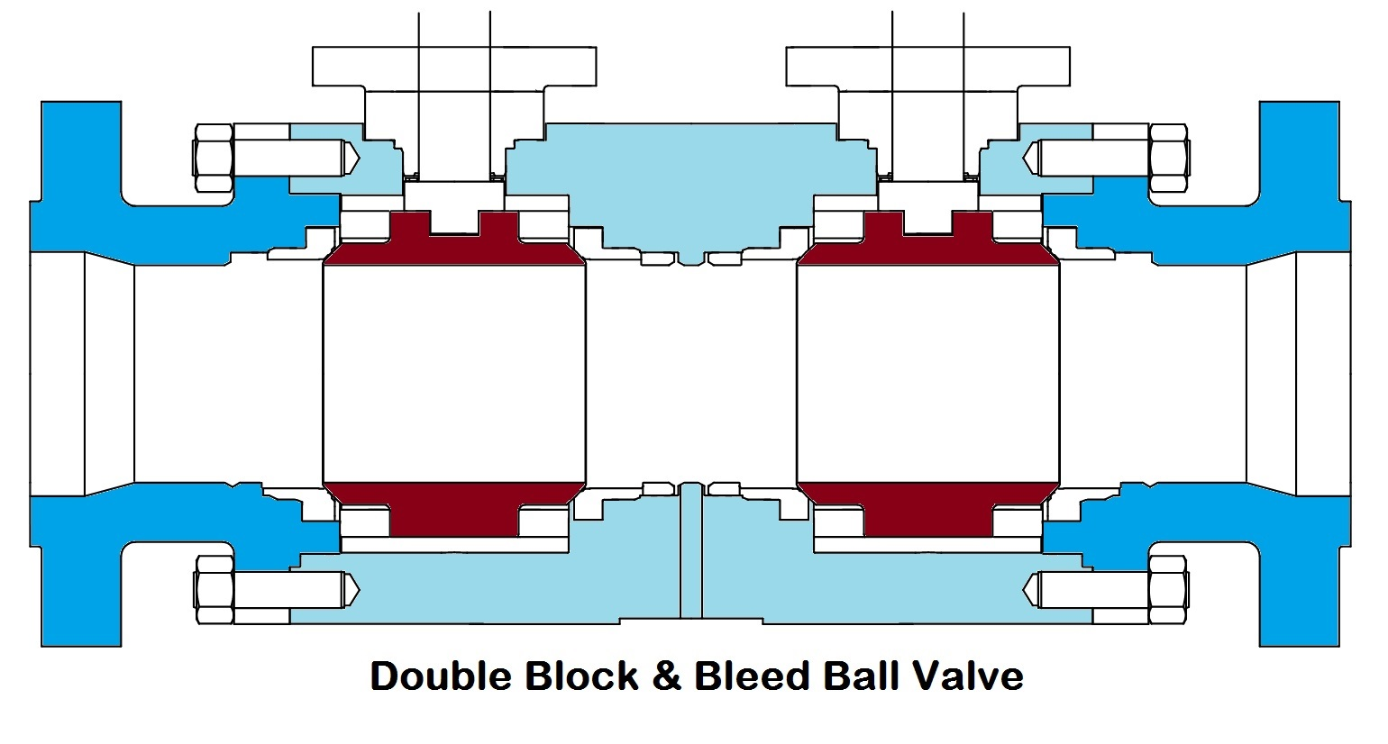 hight resolution of double bloock bleed ball valve