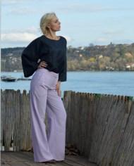 Hajdučica Clothing – Online Store – Pulp Fiction svetlo ljubičaste pantalone