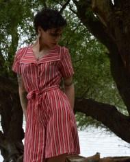 Hajdučica Clothing – Online Store – Dogvil red & white dress