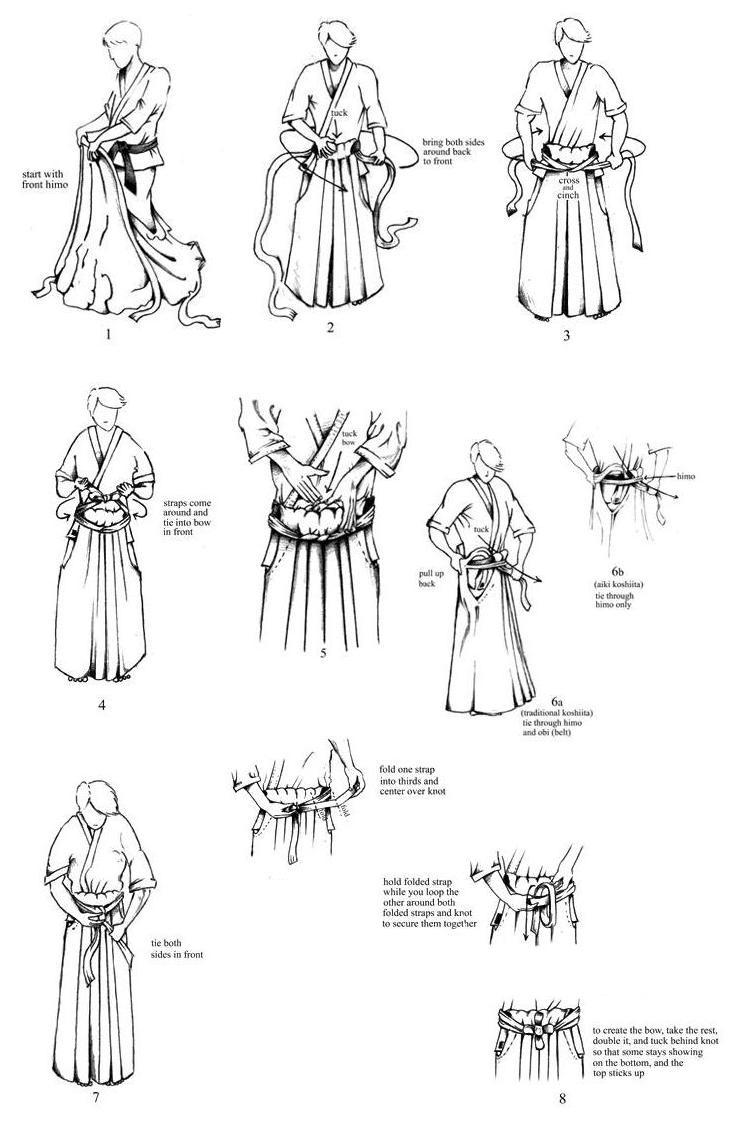 How to Tie a Hakama for Aikido