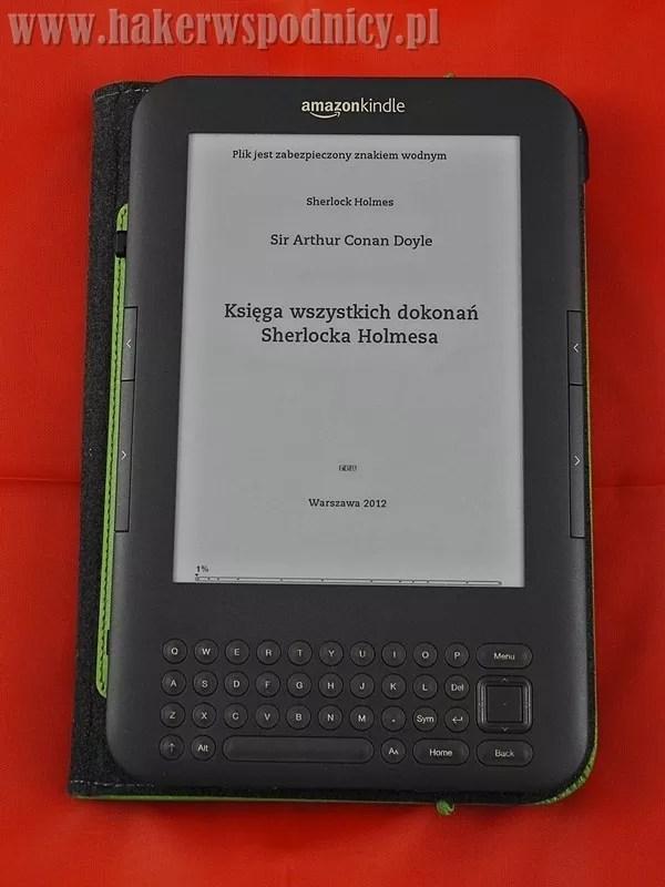 Czytnik Kindle wokładce