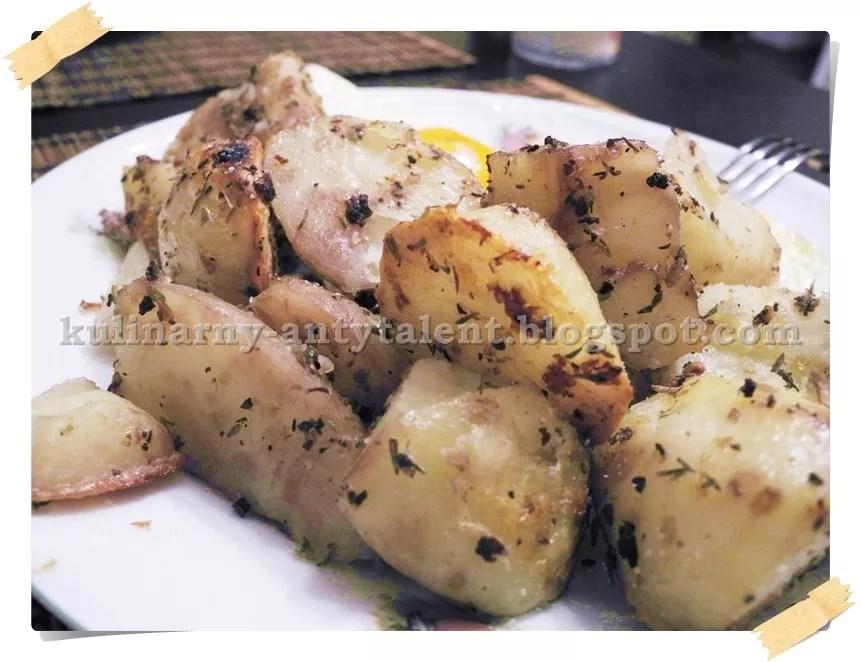 Pieczone ziemniaczki zczosnkiem ioregano