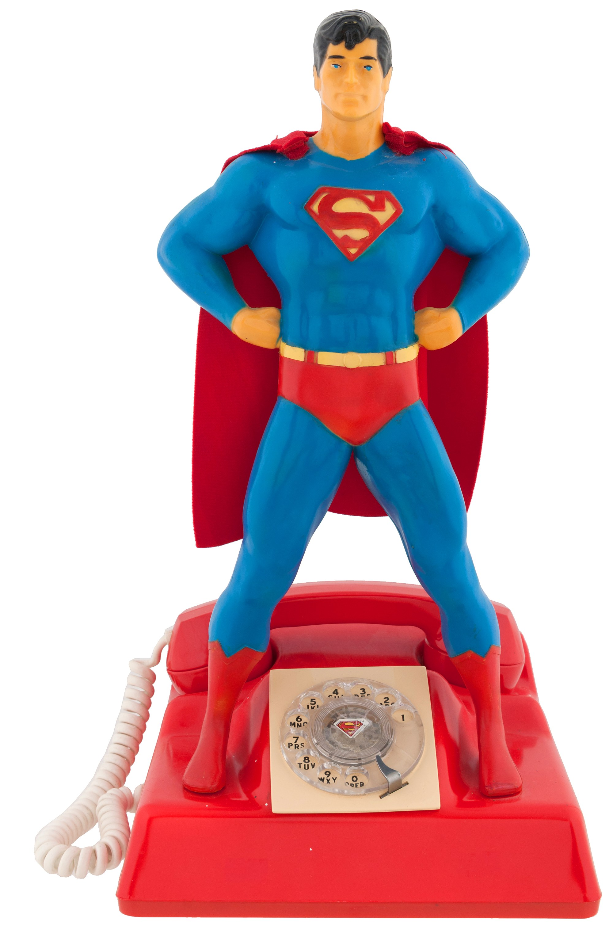 hight resolution of superman telephone 1978 rotary dial model by microcommunications