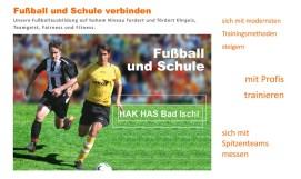 HAK|HAS Bad Ischl: Fußball und Schule verbinden