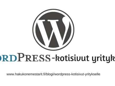 WordPress-kotisivut yritykselle