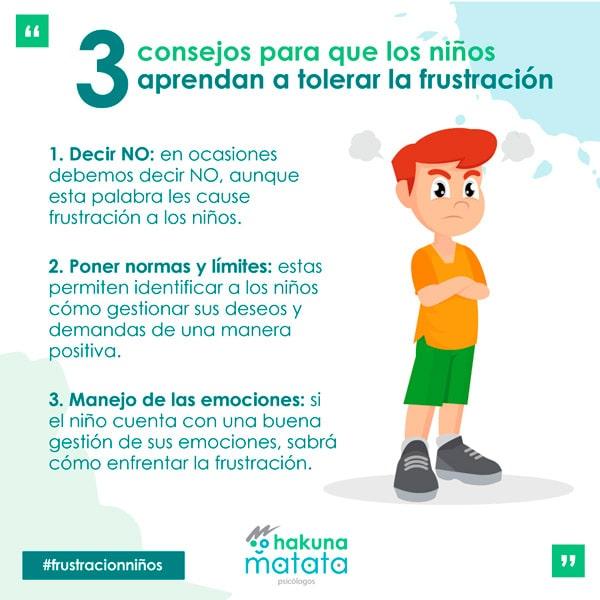 Consejos para que los niños aprendan a tolerar la frustración
