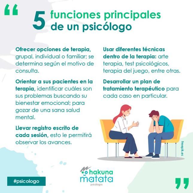 5 funciones de un psicólogo