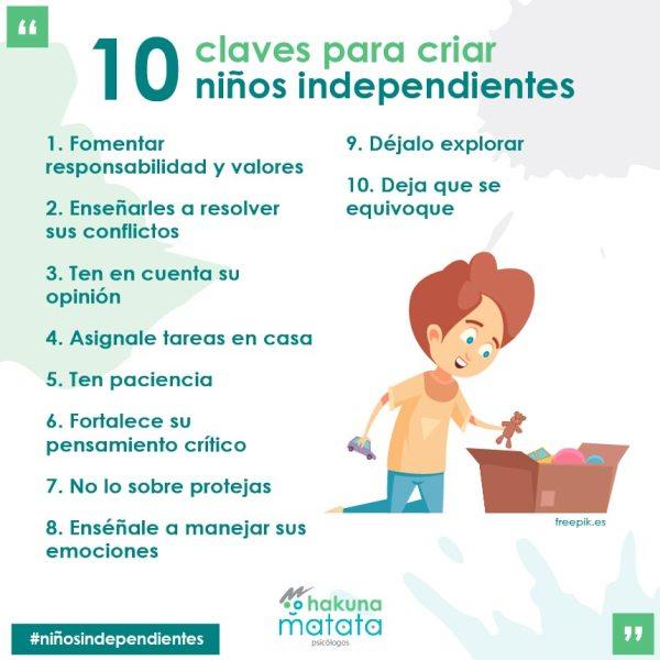 Como criar niños independientes