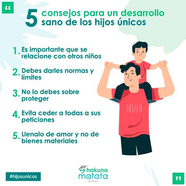 5 recomendaciones para facilitar un desarrollo sano de los hijos únicos