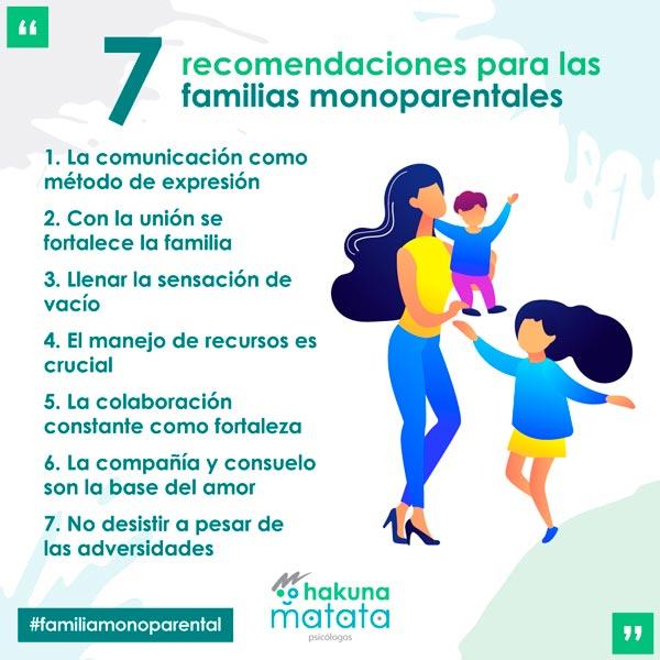 7 recomendaciones para las familias monoparentales