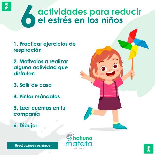 6 actividades para reducir el estrés en los niños