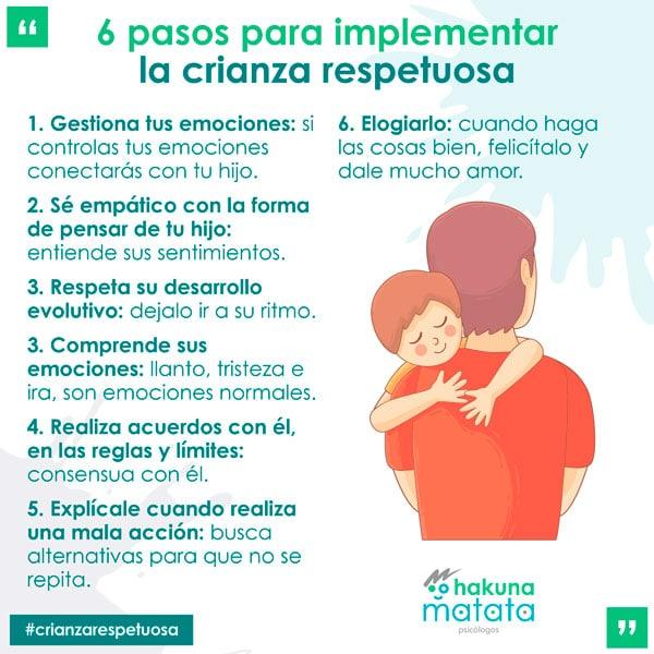 Pasos para implementar la crianza respetuosa