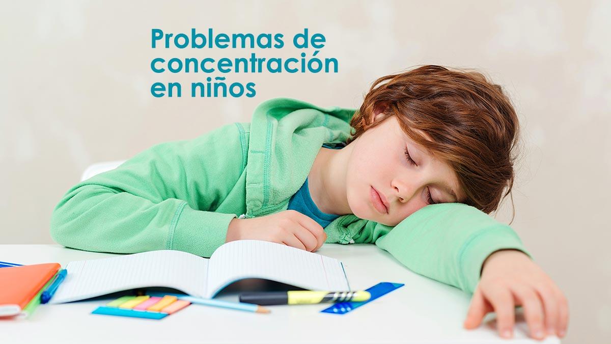 Problemas de concentración en niños, algunas señales