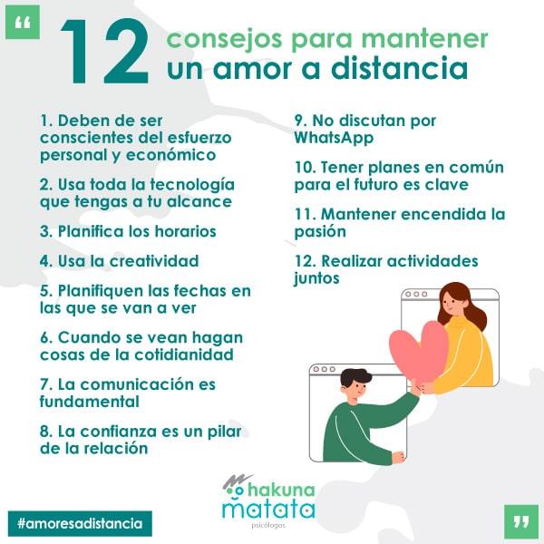 12 consejos para mantener un amor a distancia