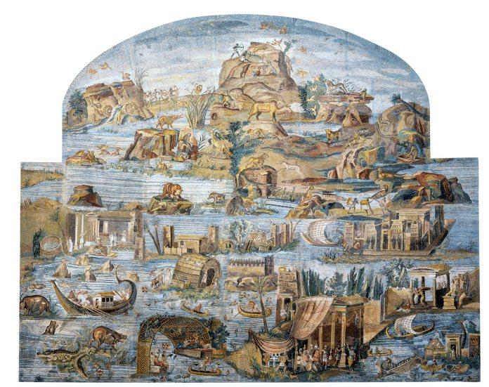 La crecida del Nilo en un fresco romano del siglo I