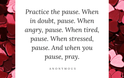 Pause when you feel yourself become overwhelmed