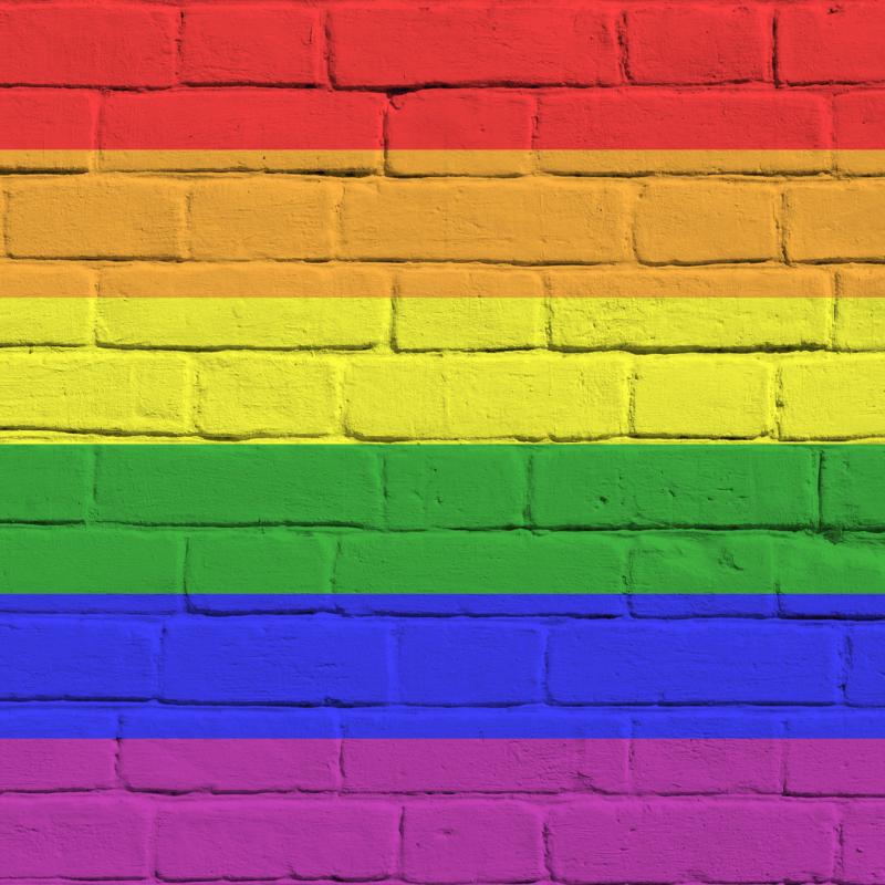 Rainbow painted wall lgbtq