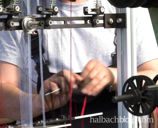 halbachblog : Besichtigung der Halbach Weberei I Wirtschaft erleben 2016