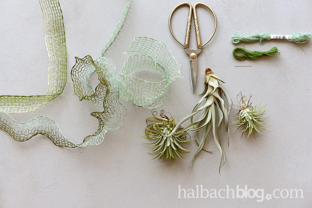 Halbachblog I Ideen mit Gitterband I Material für Tillandsien-Kokons