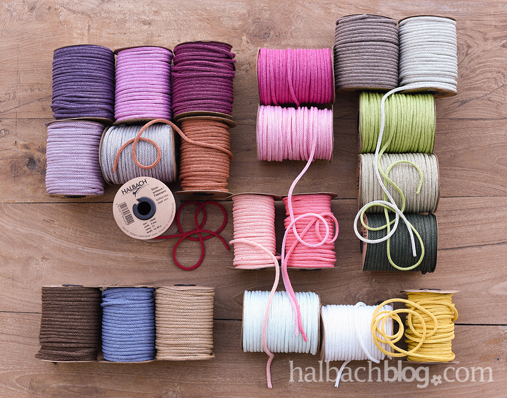 Halbach Seidenbänder I Papier-Strickschlauch I trendige Farben