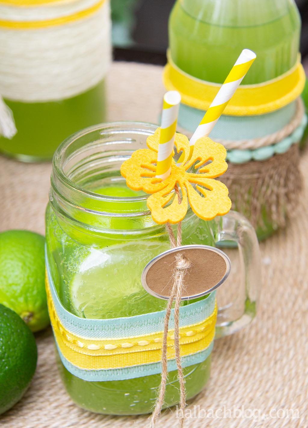 Halbachblog I DIY-Ideen für den Outdoor-Sommer: Flaschendeko mit Bändern und Kordeln von Oliver Ferchland I Mocktails I Modern Boho Style