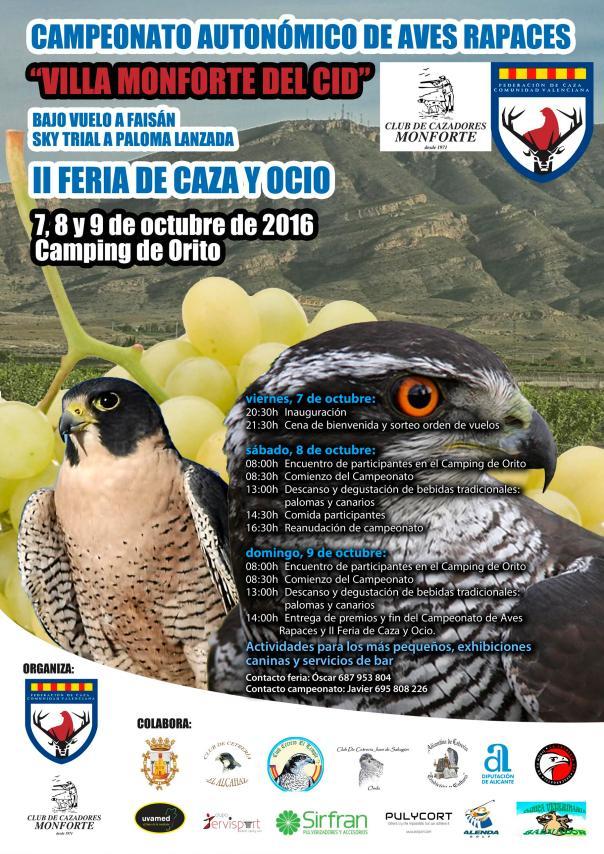 Campeonato Autonómico de Aves Rapaces Villa de Monforte del Cid